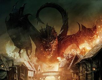 Smaug - Smaug as depicted in Peter Jackson's Hobbit trilogy, with voice and motion-capture provided by Benedict Cumberbatch.