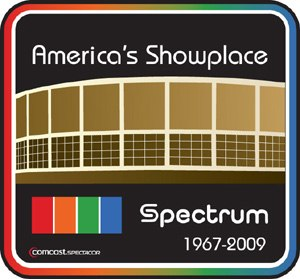 Spectrum (arena) - A special logo was used for the final season of the Spectrum's use, featuring the arena's original pre-1994 logo and nickname.