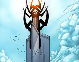 Stark Tower - The Main Tower of the Stark Tower Complex when Sentry's Watchtower was still attached.