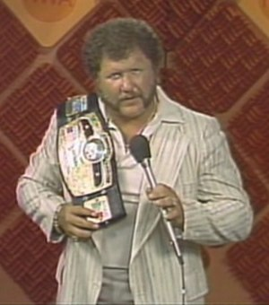 Starrcade (1983) - Harley Race, in his seventh reign as the NWA World Heavyweight Champion