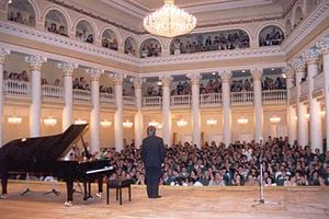 Tbilisi State Conservatoire - The main auditorium of the conservatoire