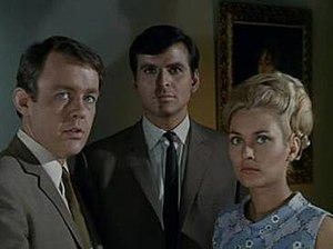 The Champions - William Gaunt, Stuart Damon, and Alexandra Bastedo.