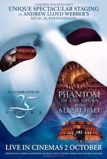 <i>The Phantom of the Opera at the Royal Albert Hall</i> 2011 British musical film directed by Nick Morris