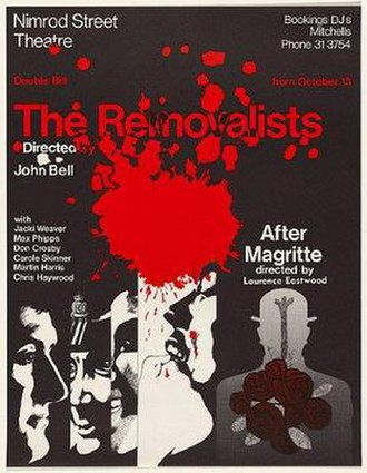 The Removalists - Poster of the 1971 Sydney production