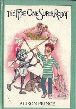 The Type One Super Robot - The book cover, depicting Uncle Bellamy, Humbert and Manders.