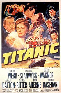 <i>Titanic</i> (1953 film) 1953 film by Jean Negulesco