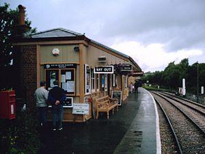 Toller railway station - The former Toller station building now rebuilt at Totnes