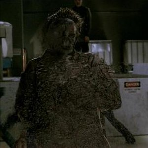 "Vampire (Buffy the Vampire Slayer) - A vampire ""dusting"". The writers felt that having vampires disintegrate after death would be convenient for the story."