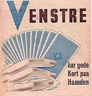 """Venstre 1945 election material (""""Venstre has good cards on hand"""")"""