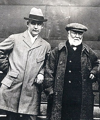William B. Dickson - William Dickson and Andrew Carnegie, photo courtesy of Littleton (NH) Area Historical Society