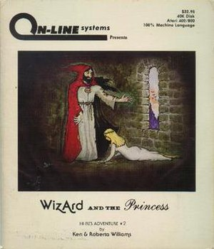 Wizard and the Princess - Atari 8-bit cover art