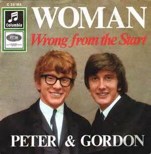 Woman (Paul McCartney song) - Image: Woman Peter & Gordon