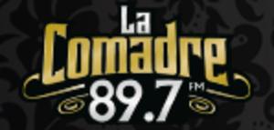 XHOCA-FM - Final logo as La Comadre, used until 2017