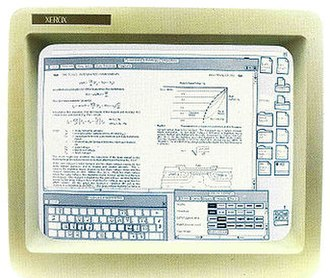 WYSIWYG - Compound document displayed on Xerox 8010 Star system