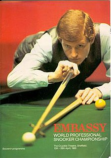 1985 World Snooker Championship Professional snooker tournament, held April 1985