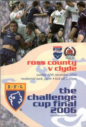2006 Scottish Challenge Cup Final - Image: 2006 Scottish Challenge Cup Final programme cover