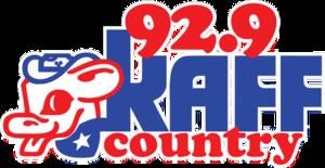 KAFF-FM - Image: 92.9 KAFF Country logo