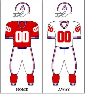 1971 New England Patriots season - Image: AFC 1971 Uniform NE
