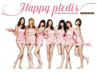 Happy Pledis 1st Album - Image: Afterschoolhappypled is