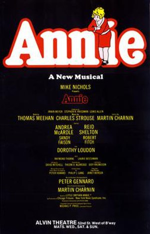 Annie (musical) - Original Broadway Windowcard