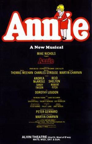 Annie (musical) - Original Broadway Windowcard