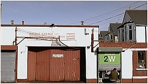 BBC 2W - One of the channel's idents introduced in 2003, depicting the BBC 2W logo box as a garage door.
