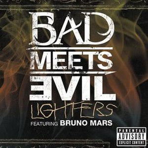 Lighters (song) - Image: Bad Meets Evil Lighters (Bruno Mars single)