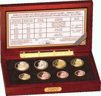 Euro proof sets - Image: Belgium BE set