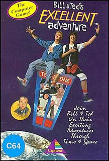 <i>Bill & Teds Excellent Adventure</i> (1989 video game) 1990 video game for Commodore 64, Amiga, and MS-DOS