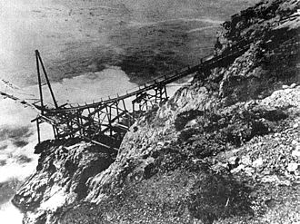 Bixby Creek Bridge - Bixby Landing in 1911 was used to transport supplies and products to and from ships off shore.