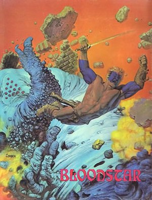 Graphic novel - Bloodstar (1976) by Robert E. Howard and artist Richard Corben.
