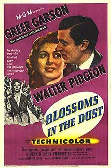 Blossoms in the Dust theatrical release poster