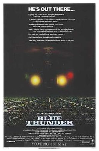 Blue Thunder - Theatrical release poster