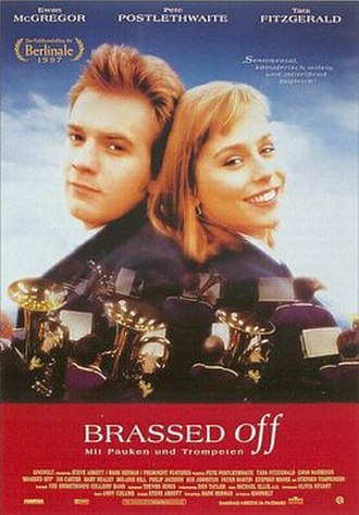 Brassed Off - Theatrical release poster