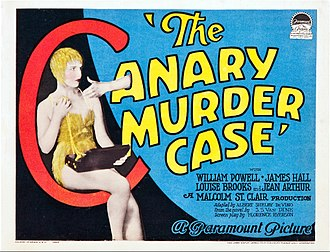 The Canary Murder Case (film) - theatrical poster