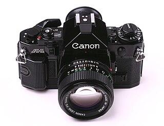 Canon A-1 35mm single-lens reflex camera model