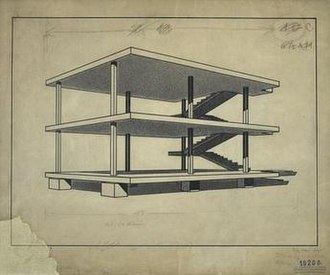 Le Corbusier - Charles-Édouard Jeanneret, 1914–15, Maison Dom-Ino (Dom-ino House)''