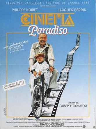 Cinema Paradiso - French poster, by Jouineau Bourduge, the last film poster to win a César Award
