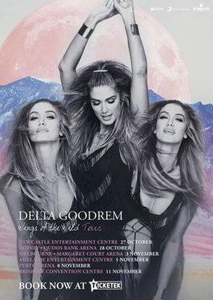 Wings of the Wild Tour - Image: Delta Goodrem Wings Of The Wild Tour poster
