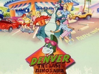 Denver, the Last Dinosaur - Title card of Denver, the Last Dinosaur