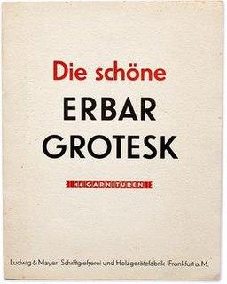 Erbar (typeface) typeface