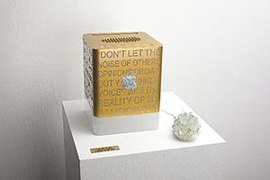 Emma Ferreira - Enter Eden ; Apple G4 cube redesigned, part of TROMI collection