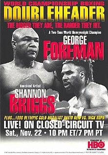 George Foreman vs. Shannon Briggs Boxing competition