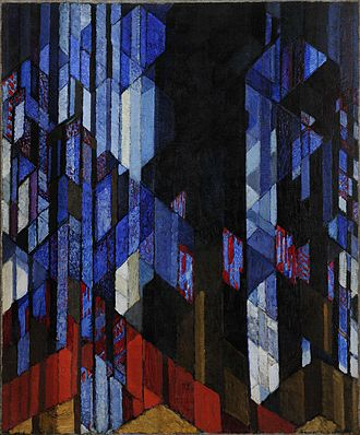 Orphism (art) - František Kupka, Katedrála (The Cathedral), 1912-13, oil on canvas, 180 x 150 cm, Museum Kampa, Prague, Czech Republic