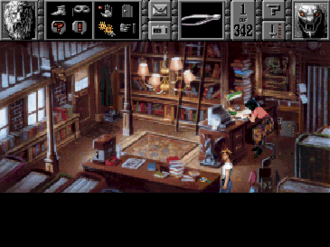 Gabriel Knight: Sins of the Fathers - The icon bar gameplay screenshot