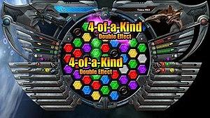Puzzle Quest: Galactrix - Galactrix gameplay screenshot.