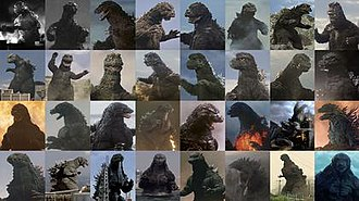 Godzilla - Every film incarnation of Godzilla between 1954-2017.