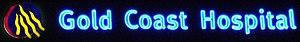 Gold Coast Hospital - Image: Gold Coast Hospital sign