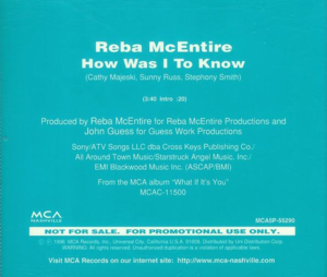 How Was I to Know (Reba McEntire song) - Image: How Was I To Know