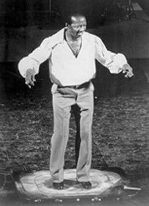 Howard Sims - Sims dancing in his signature sandbox
